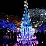 「2018SENDAI 光のページェント」光の花とクリスマスツリー★電気自動車の電力でLEDが灯る★三菱自動車が協賛!